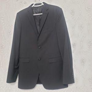 All Black Slim Fit Long Sleeve Men's Blazer